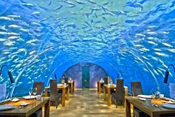 Уникальный ресторан под водой